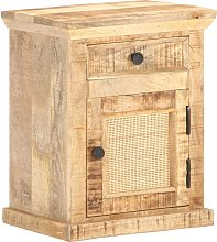 vidaXL Bed Cabinet 40x30x50 cm Solid Mango Wood