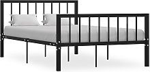 vidaXL Bed Frame Black Metal 120x190 cm