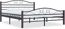 vidaXL Bed Frame Black Metal 140x200 cm