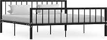 vidaXL Bed Frame Black Metal 180x200 cm