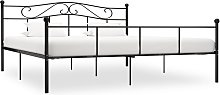 vidaXL Bed Frame Black Metal 200x200 cm