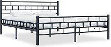 vidaXL Bed Frame Black Steel 160x200 cm