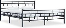 vidaXL Bed Frame Black Steel 180x200 cm