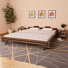 vidaXL Bed Frame Dark Brown Bamboo 180x200 cm 6FT