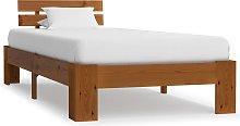 vidaXL Bed Frame Honey Brown Solid Pine Wood