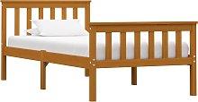 vidaXL Bed Frame Honey Brown Solid Pinewood