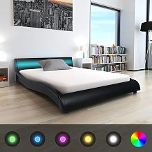 vidaXL Bed Frame with LED 5FT King Size/150x200 cm