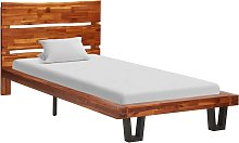 vidaXL Bed Frame with Live Edge Solid Acacia Wood