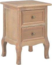 vidaXL Bedside Cabinet 35x30x49 cm MDF - Brown
