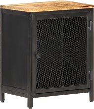 vidaXL Bedside Cabinet 40x30x53 cm Solid Rough