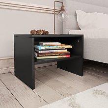 vidaXL Bedside Cabinet Black 40x30x30 cm Chipboard