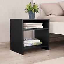 vidaXL Bedside Cabinet Black 40x30x40 cm Chipboard