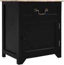 vidaXL Bedside Cabinet Black and Brown 40x30x50 cm