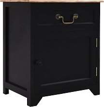 vidaXL Bedside Cabinet Black and Brown 40x30x50 cm