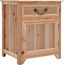 vidaXL Bedside Cabinet Brown 40x30x50 cm Paulownia