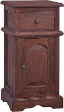 vidaXL Bedside Cabinet Classical Brown Solid