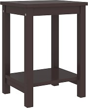 vidaXL Bedside Cabinet Dark Brown 35x30x47 cm