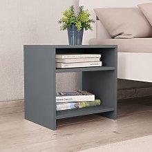 vidaXL Bedside Cabinet Grey 40x30x40 cm Chipboard