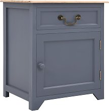 vidaXL Bedside Cabinet Grey and Brown 40x30x50 cm