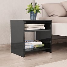 vidaXL Bedside Cabinet High Gloss Black 40x30x40