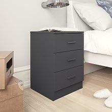 vidaXL Bedside Cabinet High Gloss Grey 38x35x56 cm
