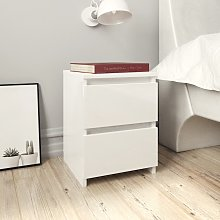 vidaXL Bedside Cabinet High Gloss White 30x30x40