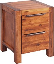 vidaXL Bedside Cabinet Solid Acacia Wood Brown