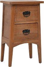 vidaXL Bedside Cabinet Solid Fir Wood 40x29x68 cm