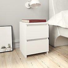 vidaXL Bedside Cabinet White 30x30x40 cm Chipboard