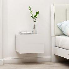 vidaXL Bedside Cabinet White 40x30x30 cm Chipboard