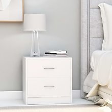 vidaXL Bedside Cabinet White 40x30x40 cm Chipboard
