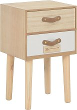 vidaXL Bedside Cabinet with 2 Drawers 30x25x49.5