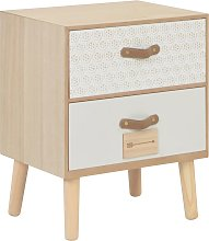 vidaXL Bedside Cabinet with 2 Drawers 40x30x49.5