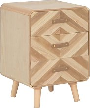 vidaXL Bedside Cabinet with 3 Drawers 40x35x56.5