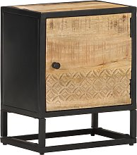 vidaXL Bedside Cabinet with Carved Door 40x30x50