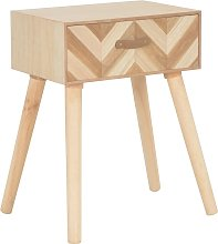 vidaXL Bedside Cabinet with Drawer 44x30x58 cm