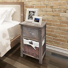 vidaXL Bedside Cabinet Wood Brown