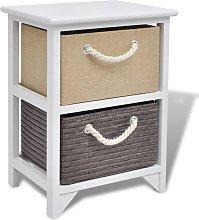 vidaXL Bedside Cabinet Wood - White