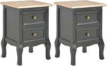 vidaXL Bedside Cabinets 2 pcs Black 35x30x49 cm MDF