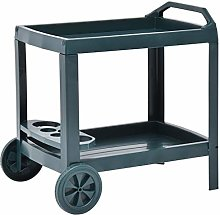 vidaXL Beverage Cart 2-Tier Serving Trolley Bar