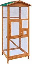 vidaXL Bird Cage Wood Outdoor Flying Animal Aviary