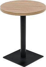 vidaXL Bistro Table MDF and Steel Round 60x75 cm