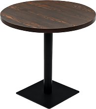 vidaXL Bistro Table MDF and Steel Round 80x75 cm