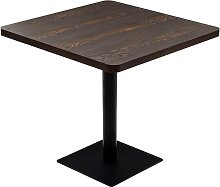 vidaXL Bistro Table MDF and Steel Square 80x80x75