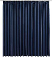 vidaXL Blackout Curtain with Hooks Blue 290x245 cm