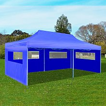 vidaXL Blue Foldable Pop-up Party Tent 3 x 6 m