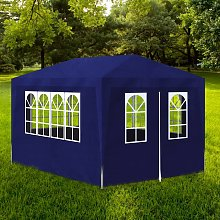 vidaXL Blue Party Tent with 4 Walls 3 x 4 m