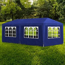 vidaXL Blue Party Tent with 6 Walls 3 x 6 m