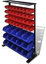 Vidaxl - Blue & Red Garage Tool Organiser - Blue