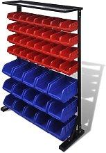 Vidaxl - Blue & Red Garage Tool Organiser